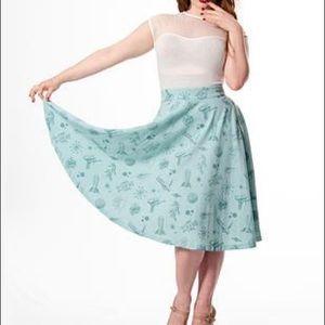 Rock Steady Blue Atomic Skirt